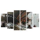 """Модульная картина на подрамнике """"Фантазия"""", 2 — 25×57,5, 2 — 25×74,5, 2 — 25×84,5 см, 150×84,5 см"""