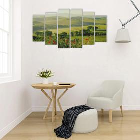 """Картина модульная на подрамнике """"Зелёные горы"""" 2-25*57,5;2-25*74,5;2-25*84,5, 150*84,5см"""