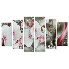 """Модульная картина на подрамнике """"Цветки орхидеи"""""""