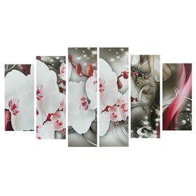 """Картина модульная на подрамнике """"Цветки орхидеи"""" 2-25*57,5;2-25*74,5;2-25*84,5, 150*84,5см"""