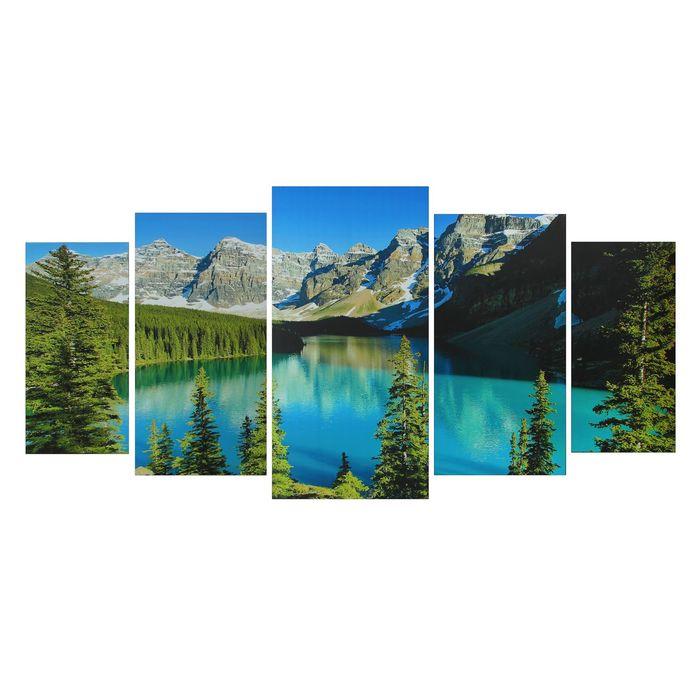 """Картина модульная на подрамнике """"Горная река"""" 2-40*80; 2-50*100; 1-60*120: 120*250 см - фото 939916"""