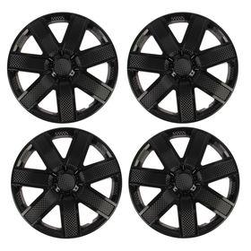 "Hubcaps wheel R14 ""GALAXY"", black gloss carbon, set 4 PCs"