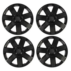 "Hubcaps wheel R16 ""GALAXY"", black gloss carbon, set 4 PCs"
