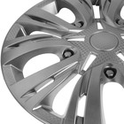 """Колпаки колесные R16 """"ЛИОН"""", серебристый, набор 4 шт - фото 7426444"""