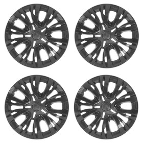 Wheel caps R16 LYON, gloss black, set of 4 PCs.