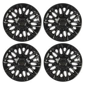 "Hubcaps wheel R13 ""POWER"", gloss black,set of 4 PCs."