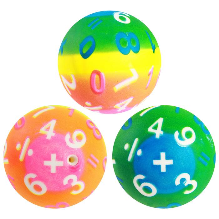 Набор детских мячей «Циферки», d=8 см, 81 г, 3 шт.