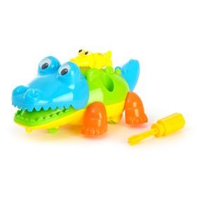 Конструктор для малышей «Крокодильчик», 9 деталей, цвета МИКС