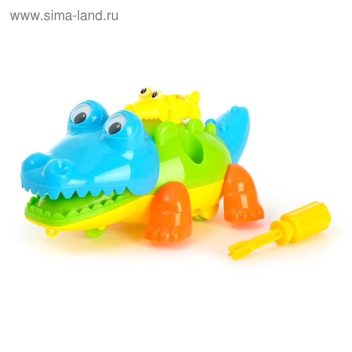 """Конструктор для малышей """"Крокодильчик"""", 9 деталей, цвета МИКС"""