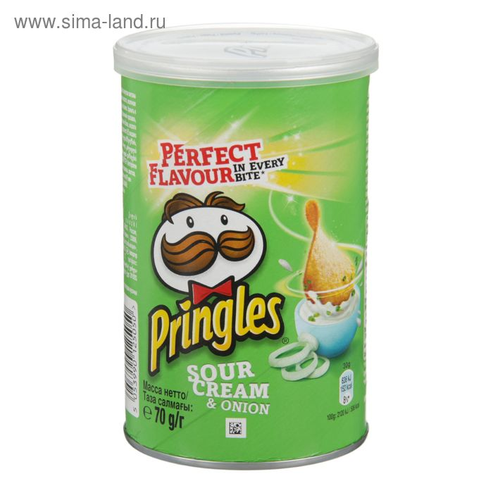 Принглс 70 гр 1*12  Сметана/лук