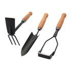 """Набор садового инструмента, 3 предмета: мотыжка, совок, полольник, деревянные ручки, """"Трио"""""""