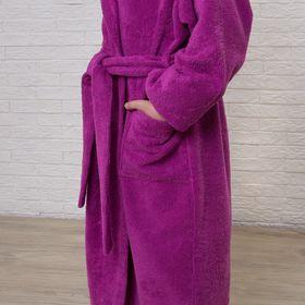 Халат махровый детский, размер 34, цвет розовый, 340 г/м2 хл.100% с AIRO - фото 1394674