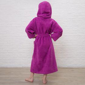 Халат махровый детский, размер 34, цвет розовый, 340 г/м2 хл.100% с AIRO - фото 1394675