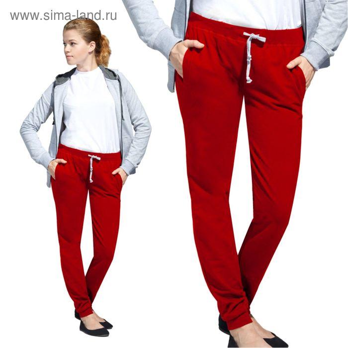 Брюки женские StanJumpWomen, размер 46, цвет красный 260 г/м