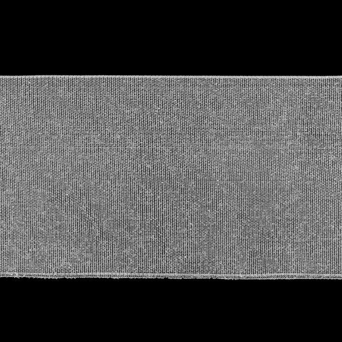 Шторная лента люверсная, клеевая односторонняя, 10 см, 50 ± 1 м, цвет белый