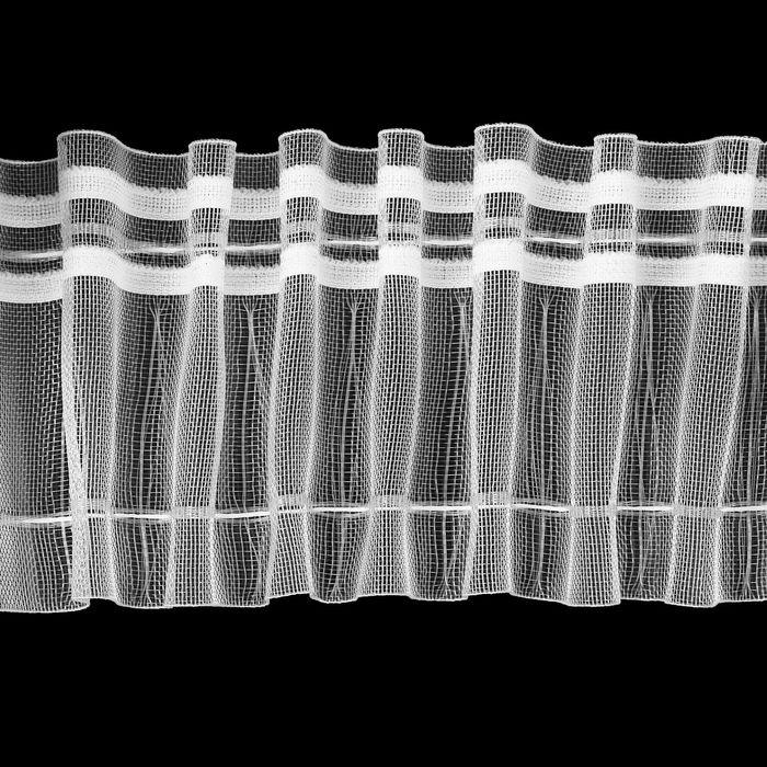 Лента шторная классическая органза, 2 шнура, 90мм, 50±1м, цвет белый