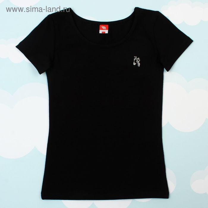 Футболка для девочки, рост 110 см, цвет чёрный CAK 61145