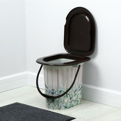 Ведро-туалет, 17 л, бежевое, «Летний день»