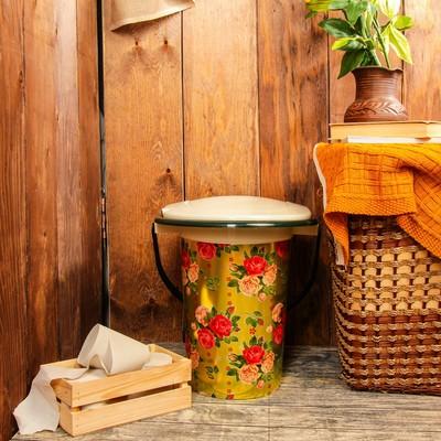 Ведро-туалет, 17 л, цвет МИКС, «Декор»