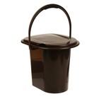 Ведро-туалет, 13 л, коричневое