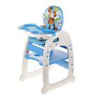 Стульчик для кормления Polini 460, трансформер , цвет синий - фото 1719140