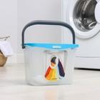 Емкость для стирального порошка 6 л, цвет голубая лагуна