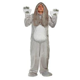 Карнавальный костюм «Заяц», взрослый, комбинезон, шапка, р. 50-52, рост 180 см