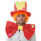 """Карнавальный костюм """"Клоун"""", шляпа с волосами, бант"""