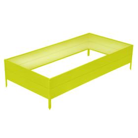 Грядка оцинкованная, 195 × 100 × 34 см, жёлтая