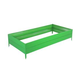 Грядка оцинкованная, 200 × 100 × 30 см, зелёная
