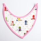 Нагрудник-бандана на непромокаемой основе для девочки, на кнопках, цвета МИКС - фото 105450056