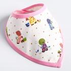 Нагрудник-бандана на непромокаемой основе для девочки, на кнопках, цвета МИКС - фото 105450059