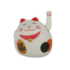 """Маятник кот пластик """"Манэки-нэко"""" от батарейки 1АА 8,5х7,5х7,5 см"""