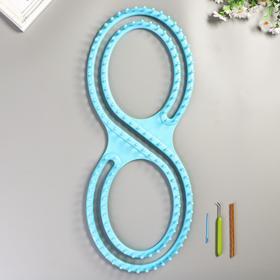 Набор для вязания (рамка + крючок для петель + игла), 60 × 21 см