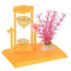 """Часы песочные """"Цветной горшок"""", жёлтые, 14х13х9 см"""