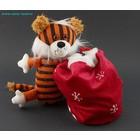 Мягкий тигр с мешком(тигр поло.в кр. мешке) 26 см Томск