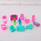 Furniture for dolls with figurines, MIX