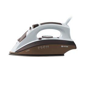 Утюг Vitek VT-1201 BN, 2200 Вт, керамическая подошва, паровой удар, коричневый