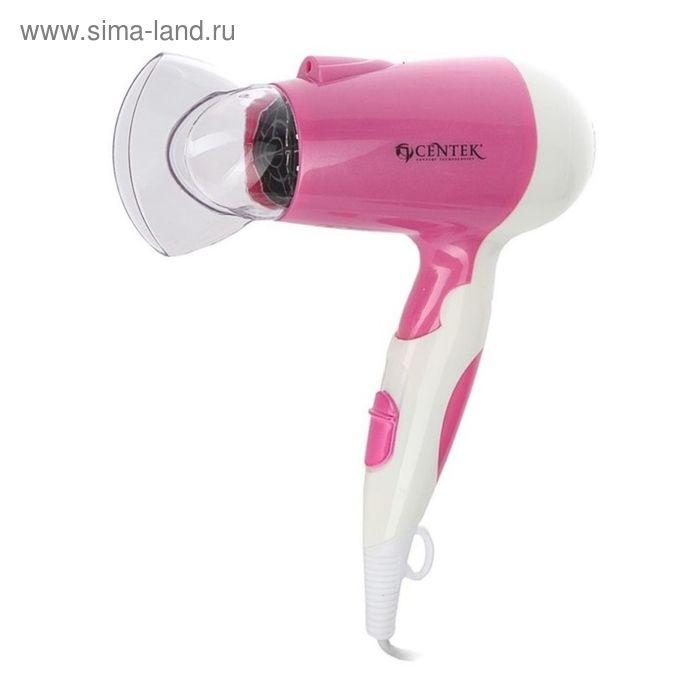 Фен Centek CT-2233, 1600 Вт, 2 скорости, 2 режима, розовый/белый