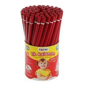 Карандаш цветной Jumbo Fatih MY FIRST PENCIL, красный 10/3.0 мм, трёхгранный, в стакане Ош