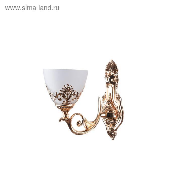 """Бра """"Флоренци"""" 1 лампа E27 40Вт золото 26х14х28 см."""
