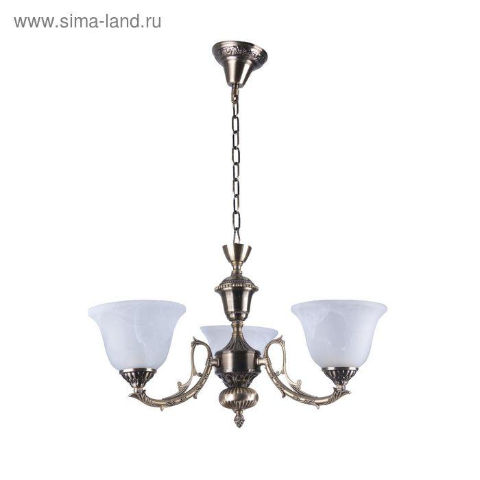 """Люстра """"Доминика"""" 3 лампы E27 40Вт античная бронза 48х48х62 см."""