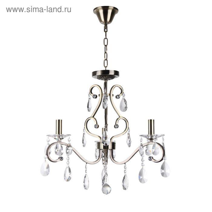 """Люстра """"Жаклин"""" 3 лампы E14 40Вт античная бронза 54х54х54 см."""
