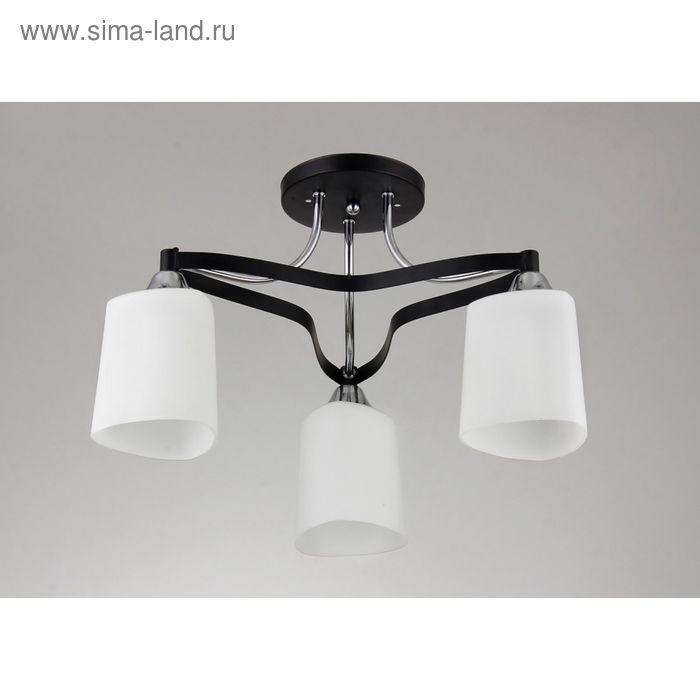 """Люстра """"Марселла"""" 3 лампы E27 60Вт  хром 44х44х27 см."""