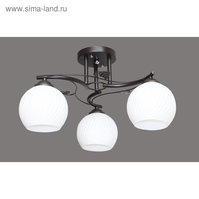 """Люстра """"Франческа"""" 3 лампы E27 40Вт черный 60х45х24,5 см."""