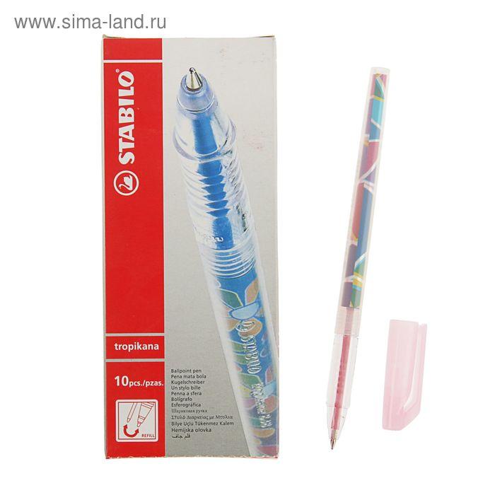 Ручка шариковая Stabilo Tropikana 838 F, узел 0.5мм, чернила розовые