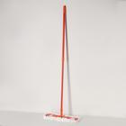 Швабра плоская, телескопическая ручка 78-130 см, насадка из микрофибры, цвет МИКС