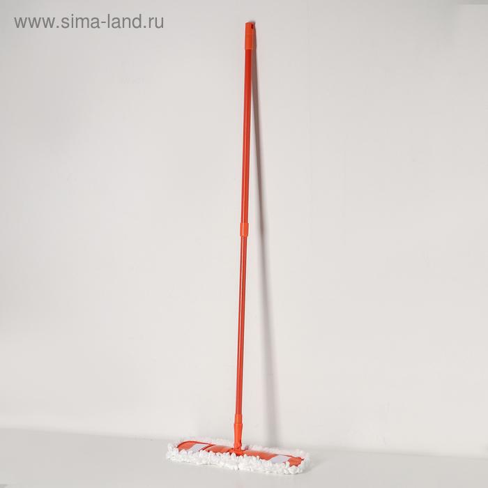 Flat MOP, telescopic handle 78-130 cm, MOP head made of microfiber, MIX color