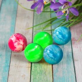 Мяч каучуковый, пестрый, цвета МИКС Ош