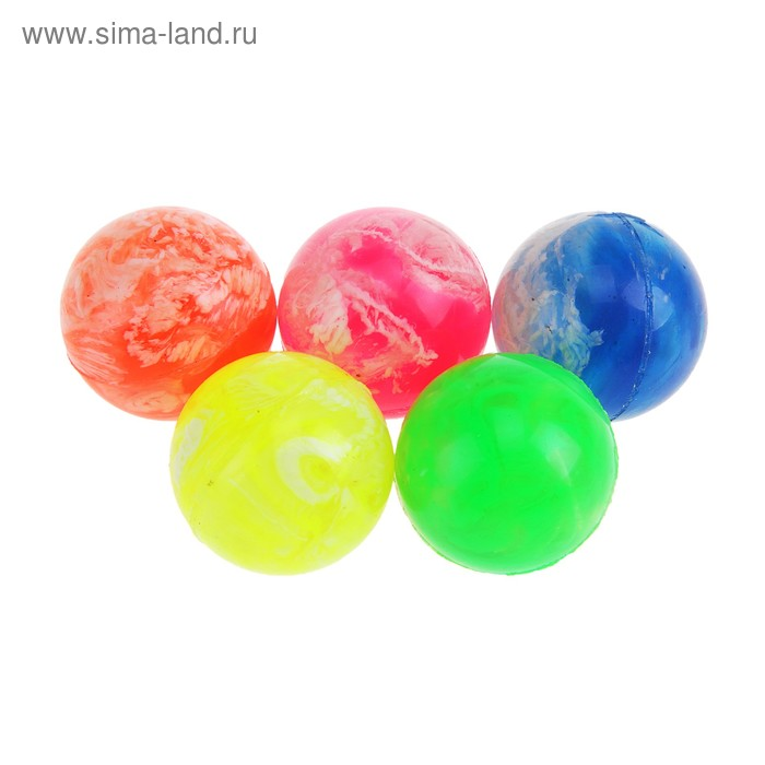 Мяч каучук пестрый, цвета МИКС